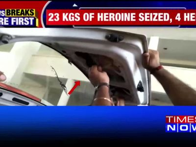 Major Crackdown On Narco-Terrorism: 23 Kg Heroine seized, four held