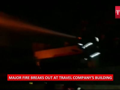 Major fire at a travel company's building in Hyderabad