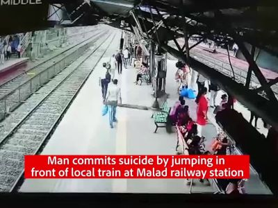 Man commits suicide by jumping in front of local train at Malad railway station