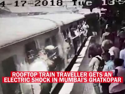 Man gets electric shock while travelling on train's rooftop