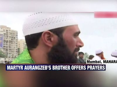 Martyr Aurangzeb's brother offers prayers at Haji Ali Dargah in Mumbai