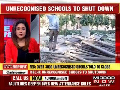Massive protest against Delhi govt's order to shutdown unrecognised schools