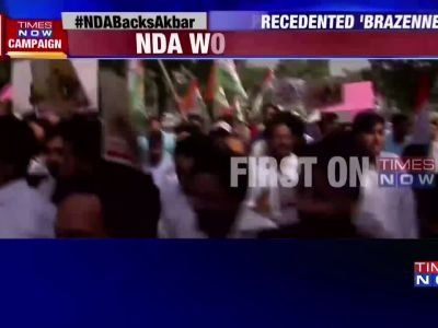 #MeToo: Congress holds protest against Union minister MJ Akbar, seeks his resignation