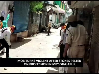 Mob turns violent after stones pelted on procession in MP's Shajapur