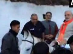 Modi visits Vaishno Devi ahead of rally in Jammu and Kashmir
