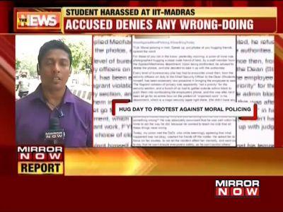 Moral policing: IIT Madras student shamed for hugging friend on campus