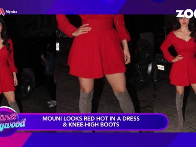 Mouni Roy looks red hot, Kiara Advani sizzles in lace dress