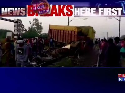 MP: Truck hits Delhi bound Rajdhani Express, 2 coaches derail