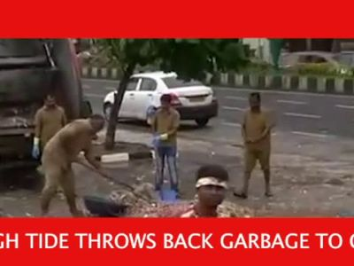 Mumbai: High tides bring 12 tonnes of garbage to Marine Drive