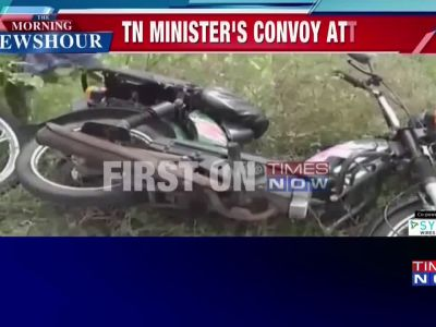 Nagapattinam: TN Minister OS Manian's convoy attacked by angry villagers
