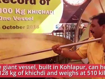 Nagpur: Chef Vishnu Manohar attempts world record of serving 3000 kgs of 'Khichdi' in single vessel