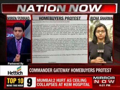 Navi Mumbai: Homebuyers protest against builder, demand their money back