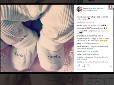 Neha Dhupia's father-in-law shares newborn granddaughter Mehr's first picture