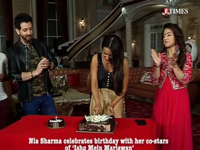 Nia Sharma celebrates birthday with her co-stars of 'Ishq Mein Marjawan'
