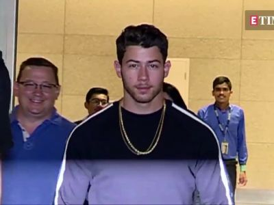 Nick Jonas arrives in Mumbai for his engagement with Priyanka Chopra