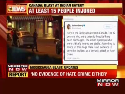 No evidence of terror plot in Indian eatery blast in Canada, says Sushma Swaraj