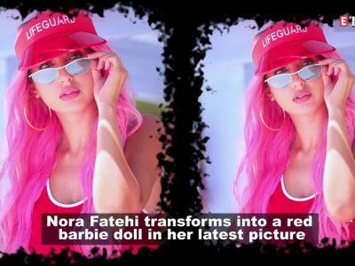 Nora Fatehi transforms into a red barbie, leaves fans in awe of her 'summer' avatar
