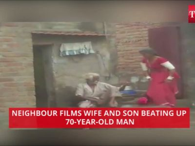 On cam: 70-year-old man being brutally thrashed by wife and son