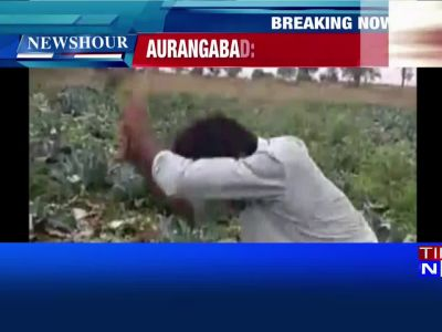 On cam: Anguished farmer destroys his own crop in Aurangabad