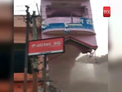 On cam: Building collapses during anti-encroachment drive