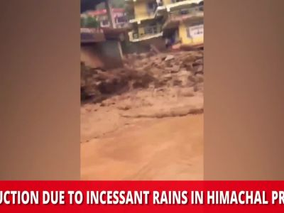 On cam: Destruction due to incessant rains in Himachal Pradesh