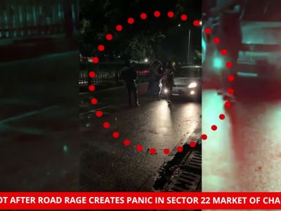 On cam: Gunshot after road rage creates panic in Chandigarh