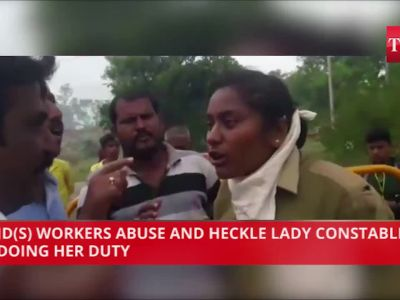 On cam: JD(S) workers abuse, heckle lady constable