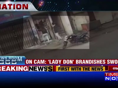 On cam: 'Lady don' brandishes sword in Surat