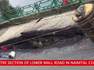 On cam: Part of Nainital's Mall Road collapses