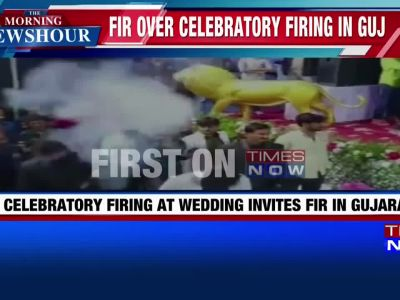 On tape: Celebratory shots fired and currency notes showered at wedding ceremony in Gujarat's Junagarh