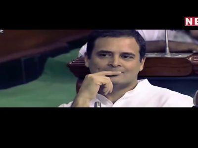राहुल गांधी ने आंख मारी तो गले लग गये कांग्रेस के यह दो नेता।