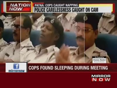 Patna: Cops found sleeping during meeting