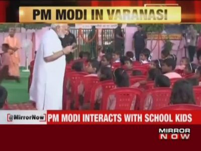 PM Modi celebrates birthday with school children in Varanasi