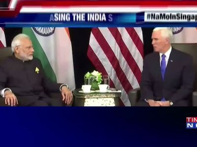 PM Narendra Modi meets US Vice-President Mike Pence