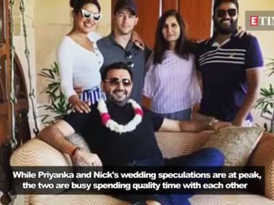 Priyanka Chopra and Nick Jonas spotted outside a wedding chapel in Las Vegas