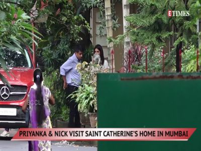 Priyanka Chopra and Nick Jonas visit Saint Catherine's Home in Mumbai