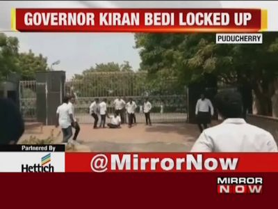 Puducherry: Students 'lock' Kiran Bedi in campus