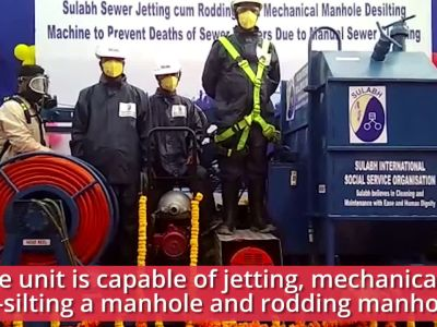 Pune-based company develops first mechanical solution for sewer line cleaning