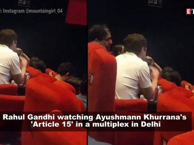 Rahul Gandhi's video watching Ayushmann Khurrana's 'Article 15' in a multiplex goes viral