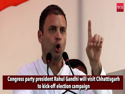Rahul Gandhi to visit Chhattisgarh and kick-off aggressive election campaign