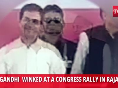 Rahul Gandhi winks again, this time for unity in Rajasthan Congress