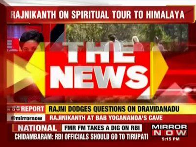 Rajinikanth performs kriya yoga in Uttarakhand's Dwarahat, dodges question on 'Dravida Nadu'