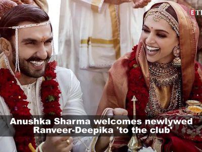 Ranveer-Deepika wedding: Anushka welcomes newlywed to the club, Anil Kapoor showers blessings