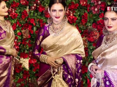 Rekha looks jaw-dropping in this silk kaftan even at the age of 64!