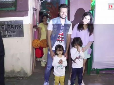 Riteish Deshmukh and Genelia D'Souza burn the dance floor at son Riaan's birthday bash