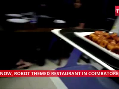 Robot waiters will serve you food at this restaurant in Coimbatore