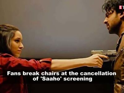Saaho release: Fans break chairs, cause mayhem at screening due to cancellation of show