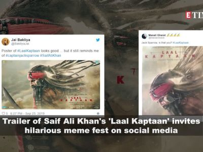 Saif Ali Khan starrer Laal Kaptaan's trailer invites hilarious meme fest on social media