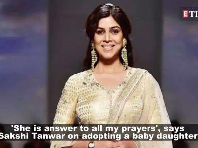 Sakshi Tanwar welcomes a baby girl, names her Dityaa