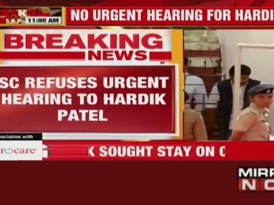 SC says no to urgent hearing of Hardik Patel's plea seeking stay of conviction